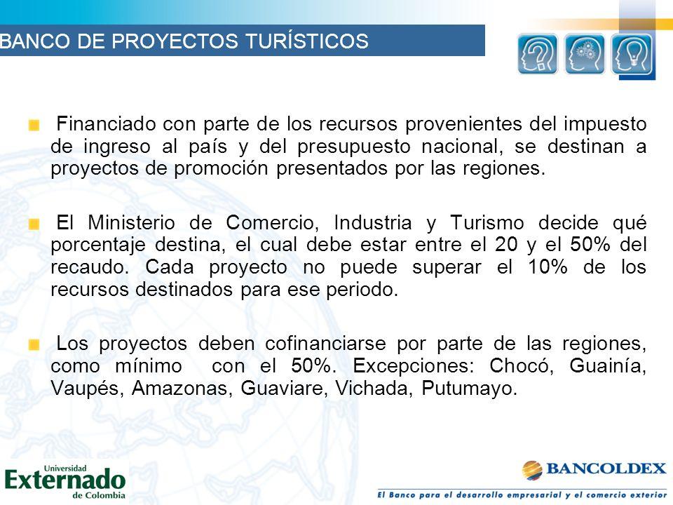 Financiado con parte de los recursos provenientes del impuesto de ingreso al país y del presupuesto nacional, se destinan a proyectos de promoción presentados por las regiones.