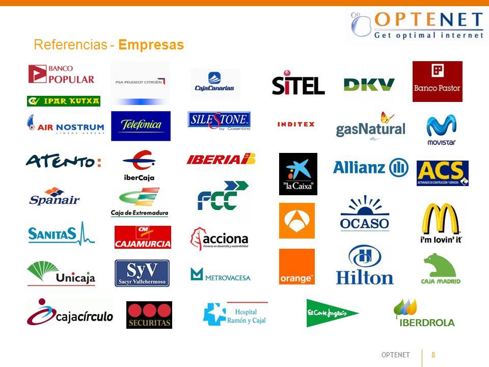 OPTENET 8 Referencias - Empresas