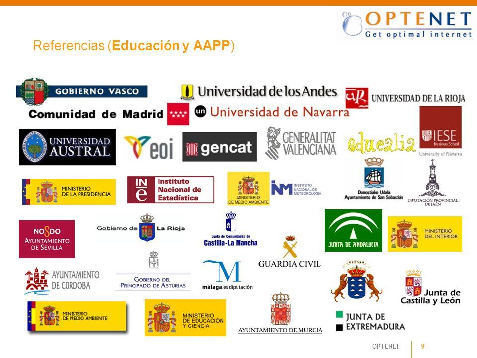 OPTENET 9 Referencias (Educación y AAPP)