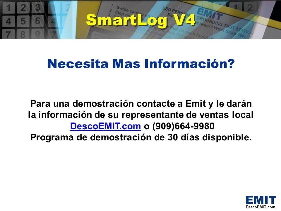 SmartLog V4 Necesita Mas Información.