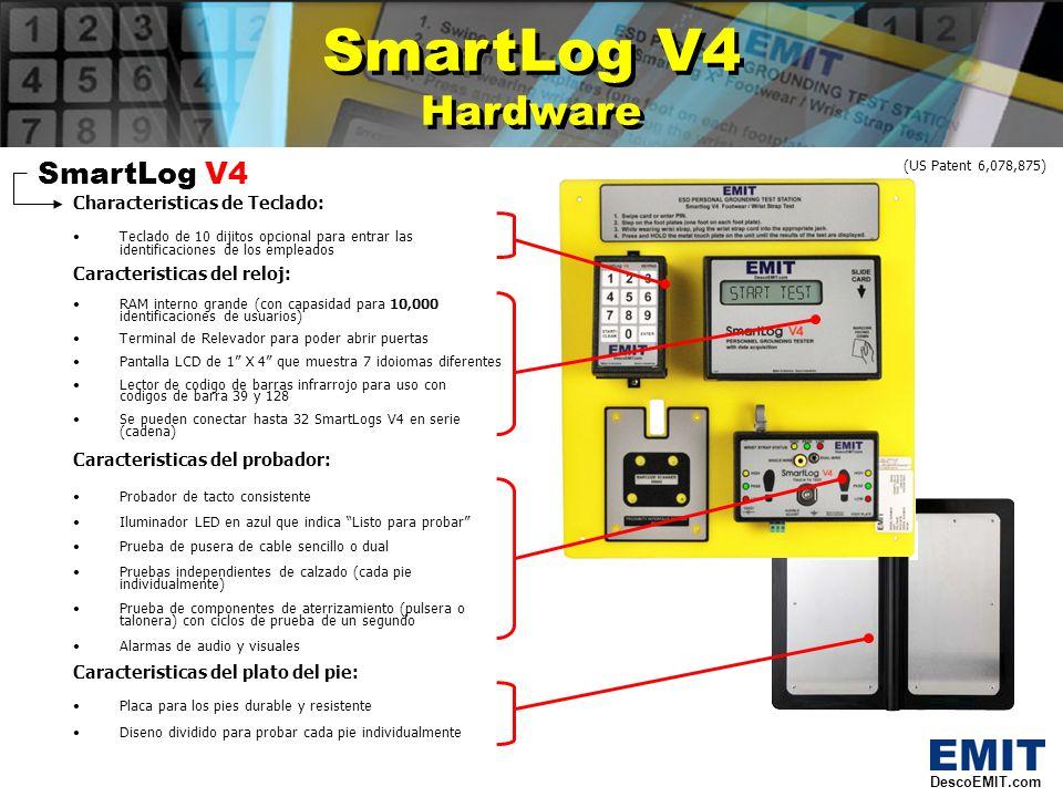 SmartLog V4 Reformas SmartLog V4 Reformas SmartLog V4 Nuevas Modernizaciones: El Azul provee una idicacion visual cuande esta listo para probar DescoEMIT.com (US Patent 6,078,875) Nuevo.