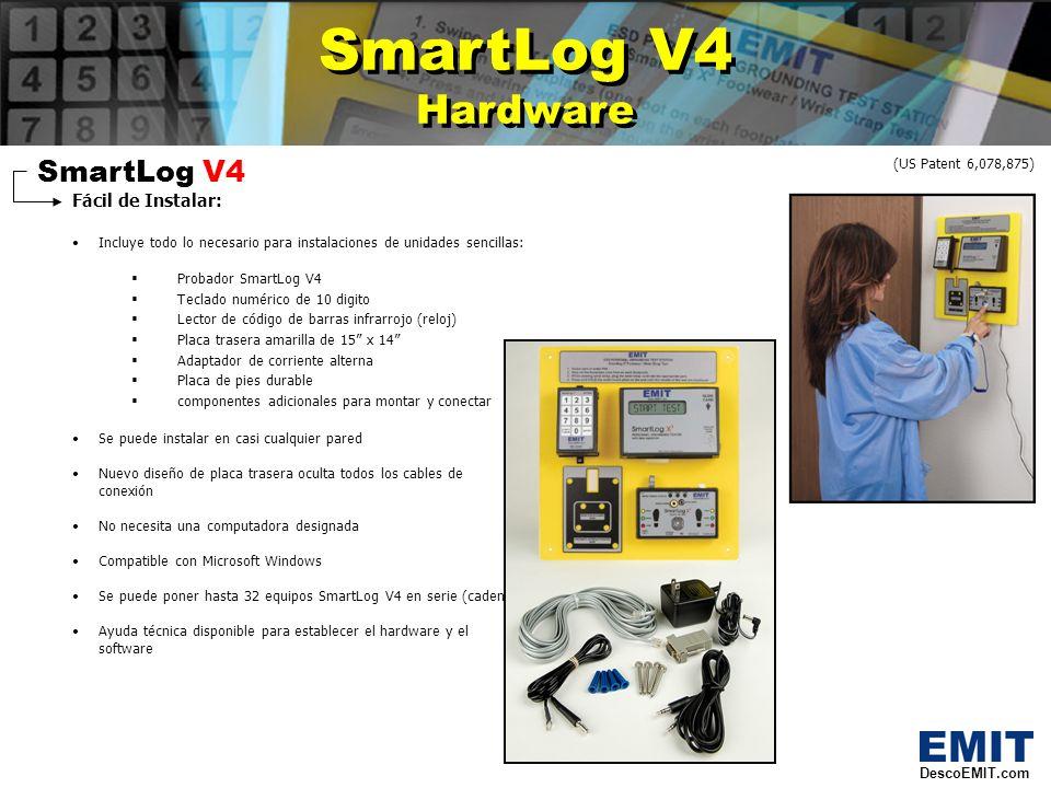 SmartLog V4 Accesorios SmartLog V4 Accesorios SmartLog V4 Accesorios Opcionales: 50443 – Escaner de codigo de barra laser Elimina desgaste de tarjetas y provee escaneo de los codigos de barra de los empleados 50461 – Adaptador de Ethernet Permite una coneccion universal a su red.
