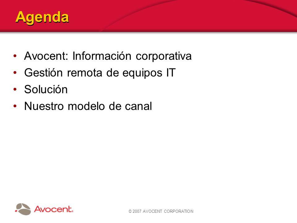 © 2007 AVOCENT CORPORATION Avocent: Información corporativa