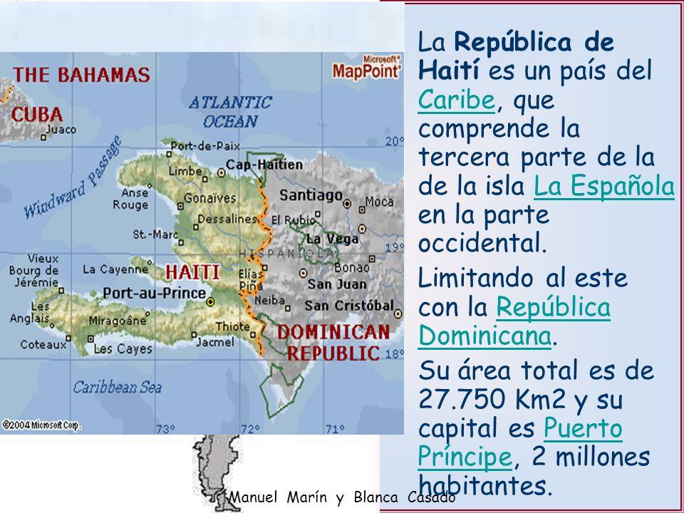 La República de Haití es un país del Caribe, que comprende la tercera parte de la de la isla La Española en la parte occidental. CaribeLa Española Lim