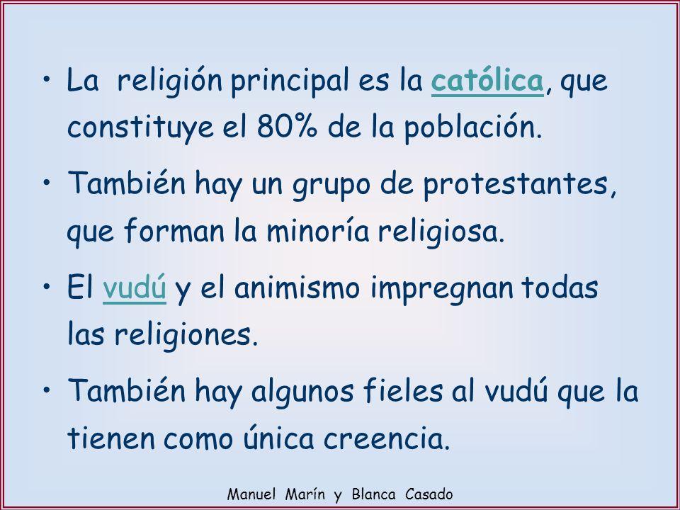 La religión principal es la católica, que constituye el 80% de la población. También hay un grupo de protestantes, que forman la minoría religiosa. El
