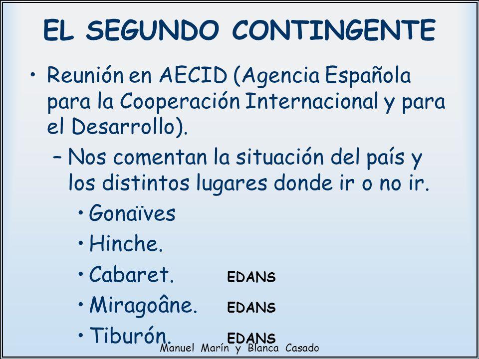 Reunión en AECID (Agencia Española para la Cooperación Internacional y para el Desarrollo). –Nos comentan la situación del país y los distintos lugare