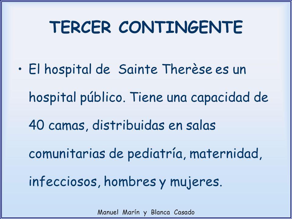 El hospital de Sainte Therèse es un hospital público. Tiene una capacidad de 40 camas, distribuidas en salas comunitarias de pediatría, maternidad, in