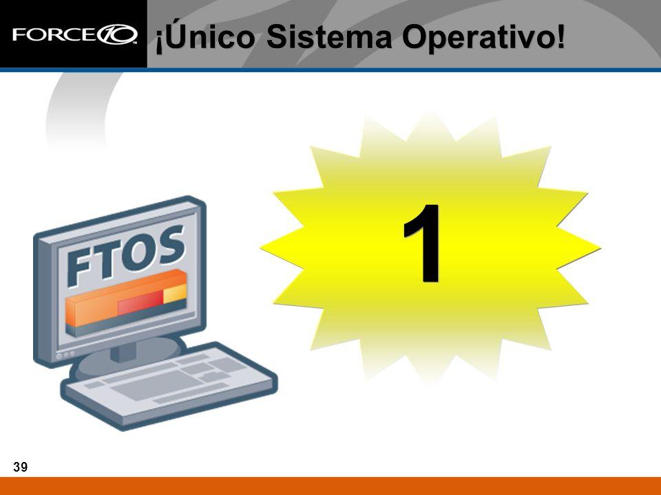 39 ¡Único Sistema Operativo! 1 1