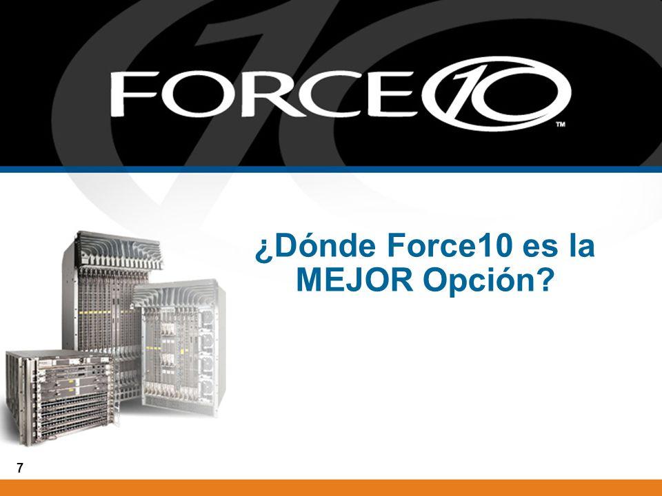 7 ¿Dónde Force10 es la MEJOR Opción?