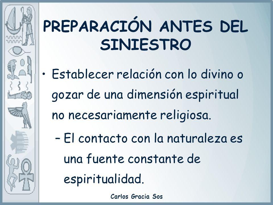 Carlos Gracia Sos Establecer relación con lo divino o gozar de una dimensión espiritual no necesariamente religiosa. –El contacto con la naturaleza es