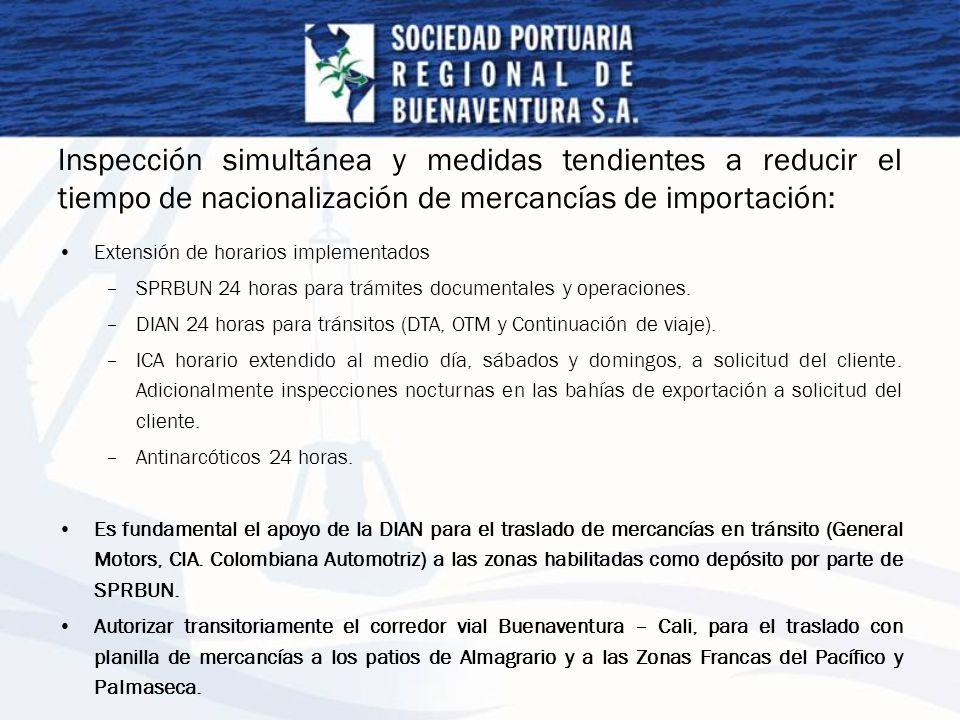 Inspección simultánea y medidas tendientes a reducir el tiempo de nacionalización de mercancías de importación: Extensión de horarios implementados –S