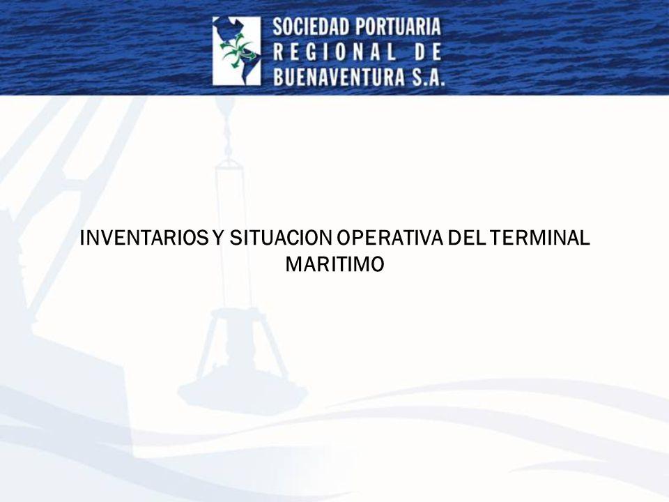 INVENTARIO DE CONTENEDORES 8 de Septiembre 2006 No se permitió el incremento de tarifas servicio almacenaje: Art.