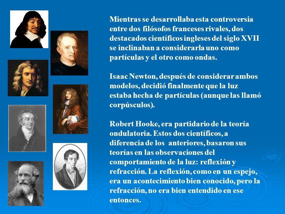 Mientras se desarrollaba esta controversia entre dos filósofos franceses rivales, dos destacados científicos ingleses del siglo XVII se inclinaban a c