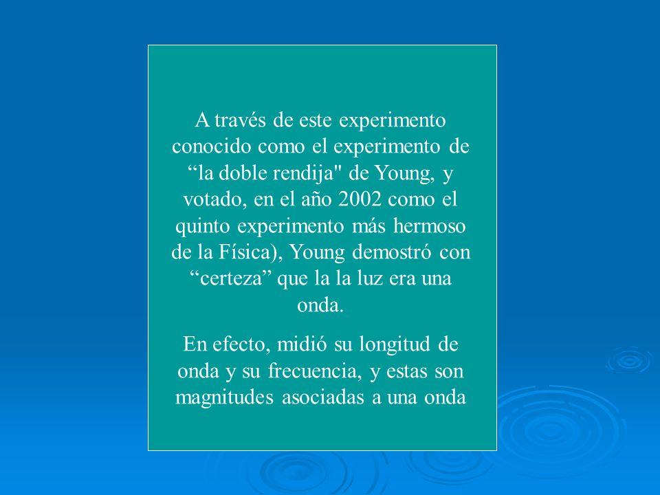 A través de este experimento conocido como el experimento de la doble rendija