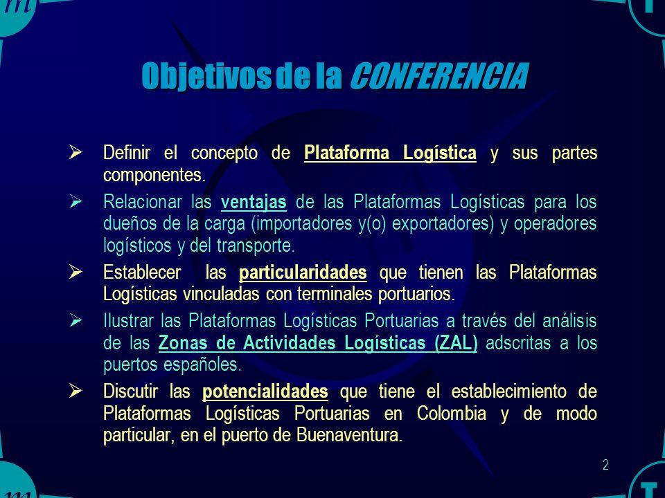 CONFERENCIA LAS PLATAFORMAS LOGÍSTICAS PORTUARIAS: FACTOR DE COMPETITIVIDAD DEL COMERCIO EXTERIOR