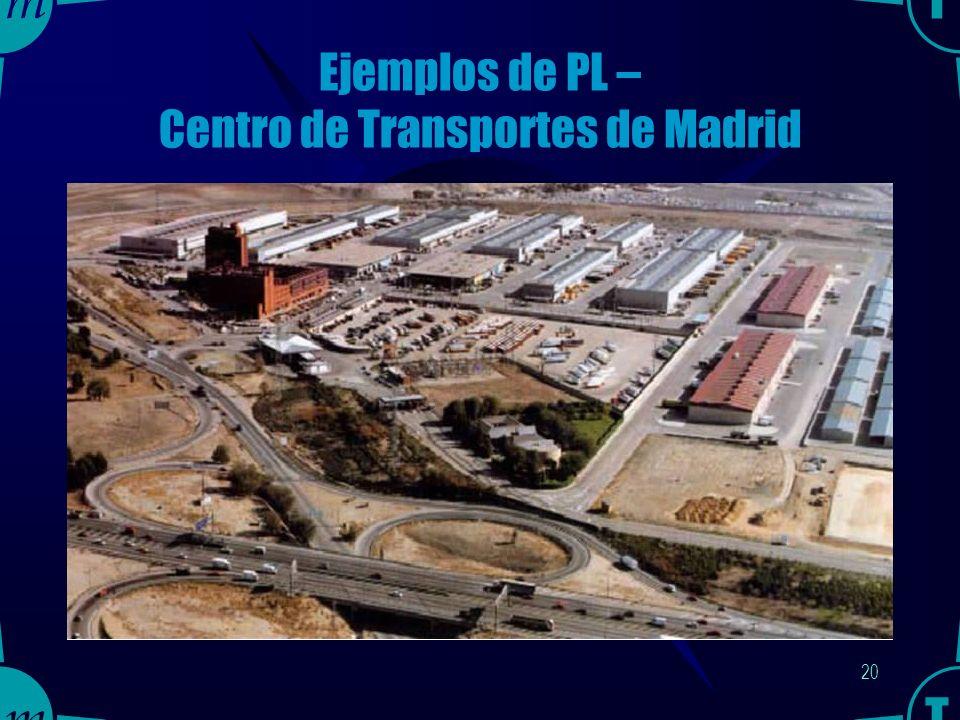 19 Ejemplos de PL – Centro de Transportes de Madrid