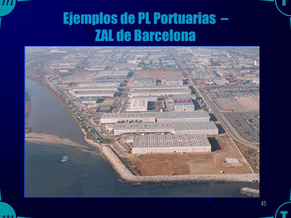 44 Ejemplos de PL Portuarias – ZAL de Barcelona
