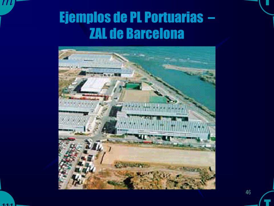 45 Ejemplos de PL Portuarias – ZAL de Barcelona