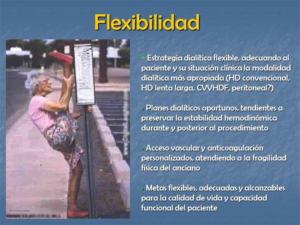 Estrategia dialítica flexible, adecuando al paciente y su situación clínica la modalidad dialítica más apropiada (HD convencional, HD lenta larga, CVV