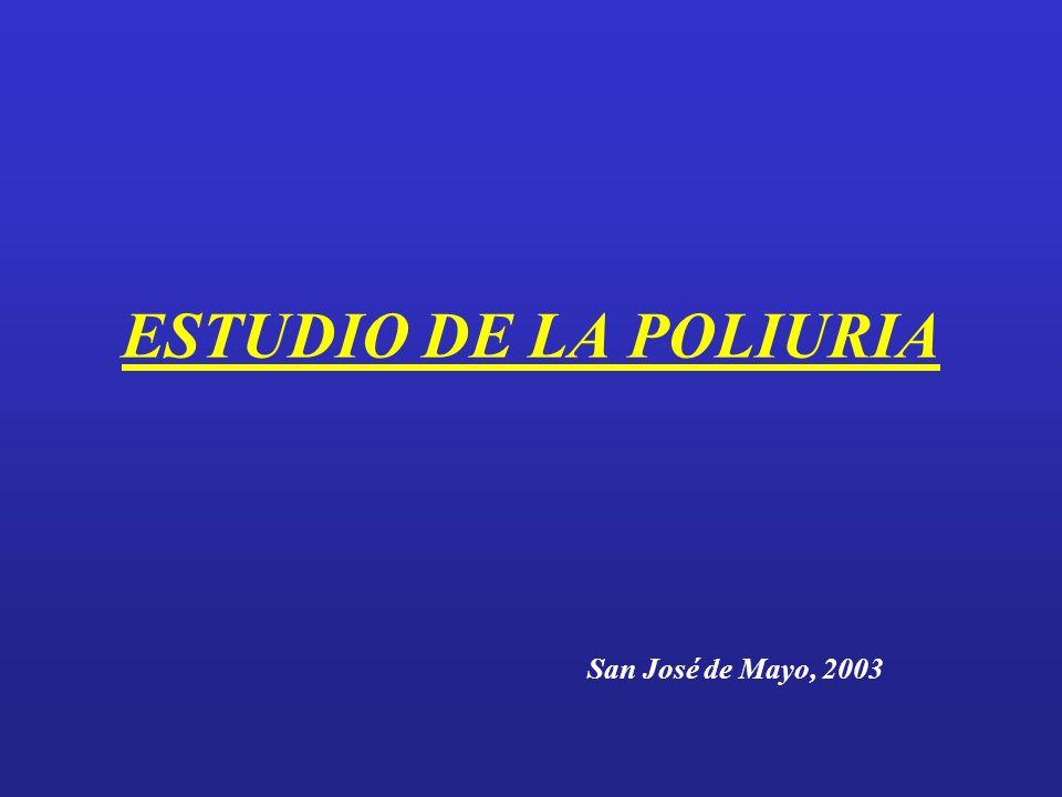 ESTUDIO DE LA POLIURIA San José de Mayo, 2003