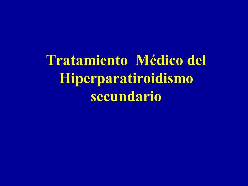 Tratamiento Médico del Hiperparatiroidismo secundario