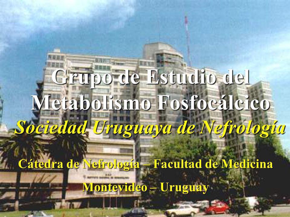 Grupo de Estudio del Metabolismo Fosfocálcico Sociedad Uruguaya de Nefrología Cátedra de Nefrología – Facultad de Medicina Montevideo – Uruguay
