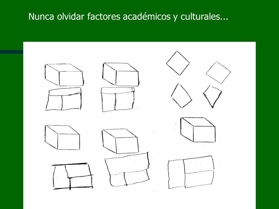 Nunca olvidar factores académicos y culturales...