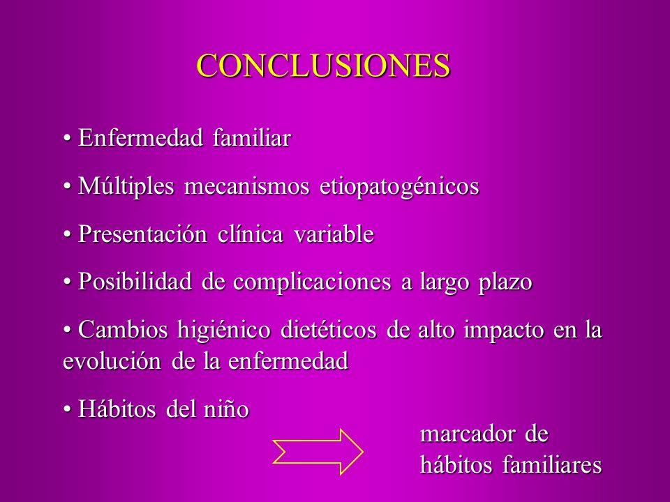CONCLUSIONES Enfermedad familiar Enfermedad familiar Múltiples mecanismos etiopatogénicos Múltiples mecanismos etiopatogénicos Presentación clínica va