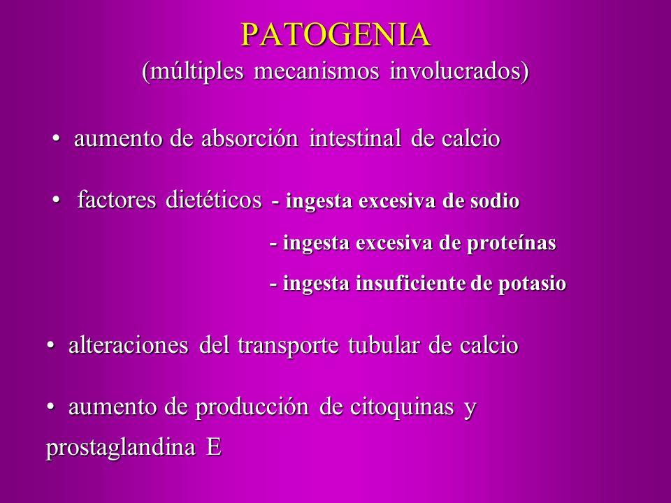 PATOGENIA (múltiples mecanismos involucrados) factores dietéticos - ingesta excesiva de sodiofactores dietéticos - ingesta excesiva de sodio - ingesta