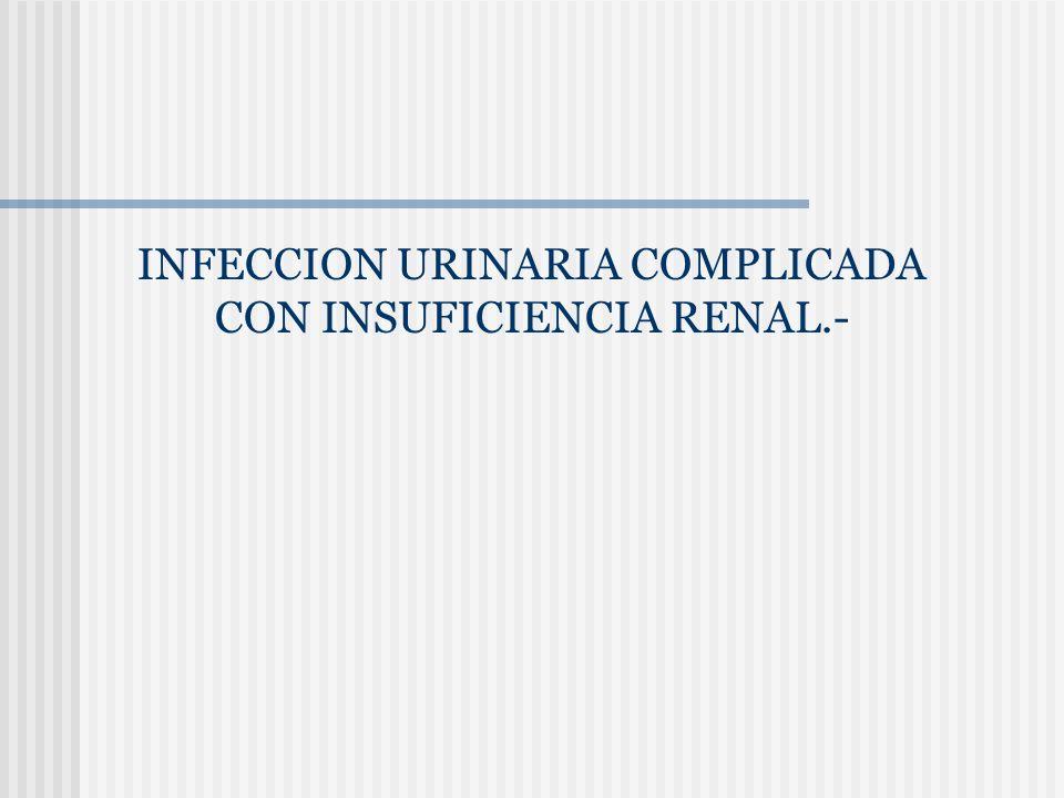 INFECCION URINARIA COMPLICADA CON INSUFICIENCIA RENAL.-