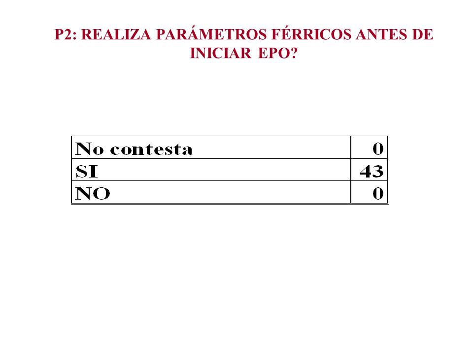 P2: REALIZA PARÁMETROS FÉRRICOS ANTES DE INICIAR EPO?