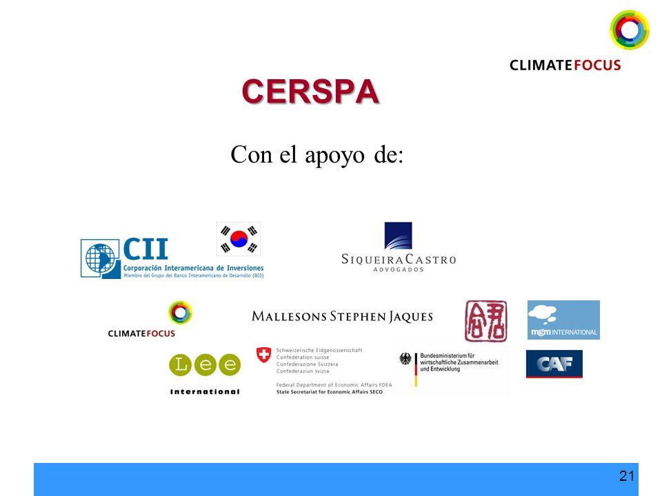 21 CERSPA Con el apoyo de: