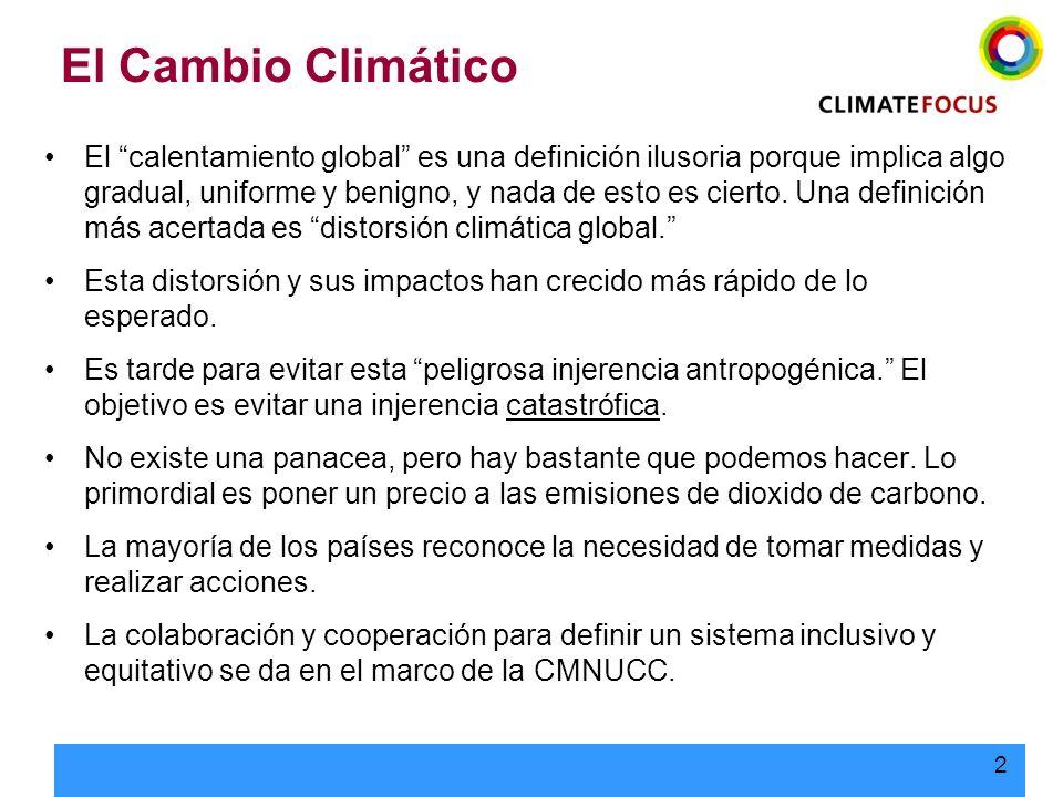 2 El Cambio Climático El calentamiento global es una definición ilusoria porque implica algo gradual, uniforme y benigno, y nada de esto es cierto. Un