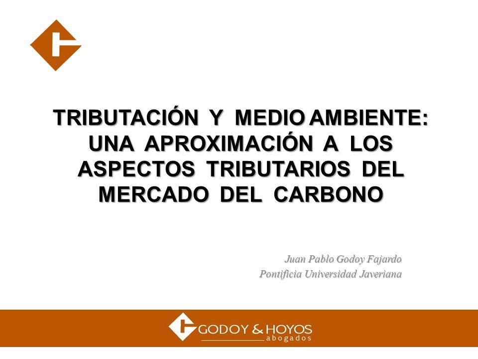 TRIBUTACIÓN Y MEDIO AMBIENTE: UNA APROXIMACIÓN A LOS ASPECTOS TRIBUTARIOS DEL MERCADO DEL CARBONO Juan Pablo Godoy Fajardo Pontificia Universidad Jave