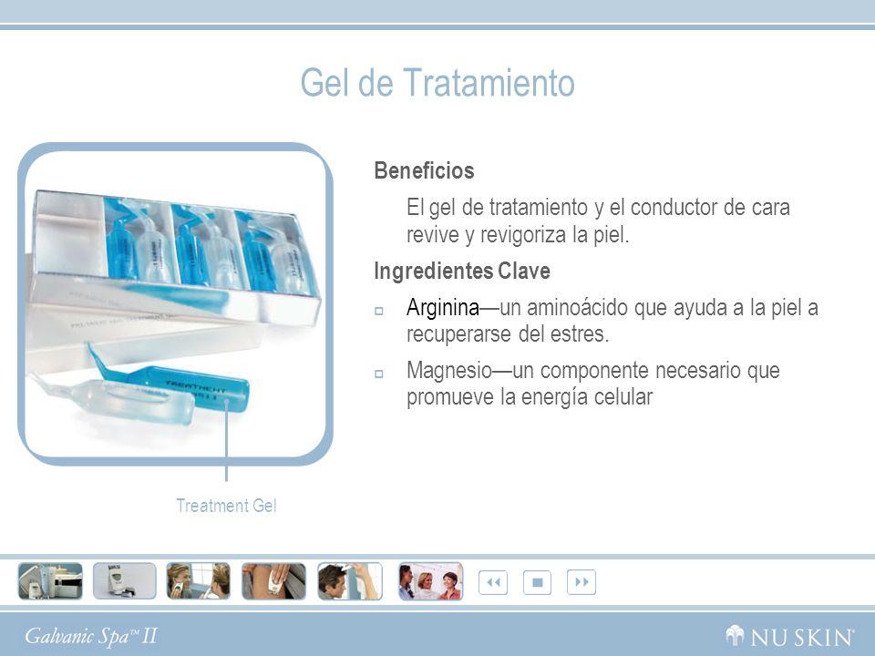 Gel de Tratamiento Beneficios El gel de tratamiento y el conductor de cara revive y revigoriza la piel. Ingredientes Clave Argininaun aminoácido que a