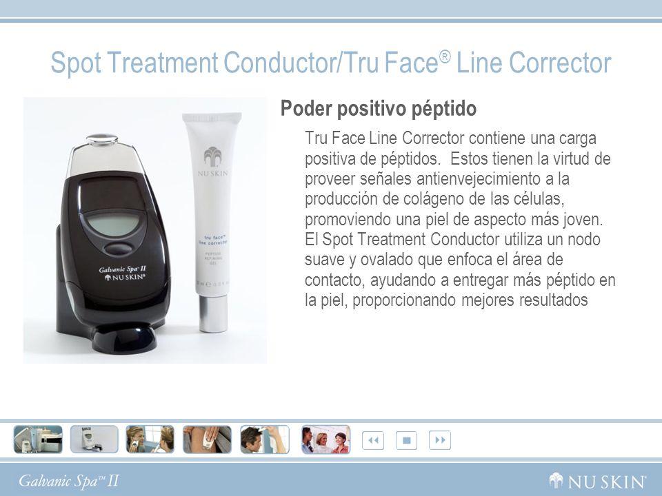 Spot Treatment Conductor/Tru Face ® Line Corrector Poder positivo péptido Tru Face Line Corrector contiene una carga positiva de péptidos. Estos tiene