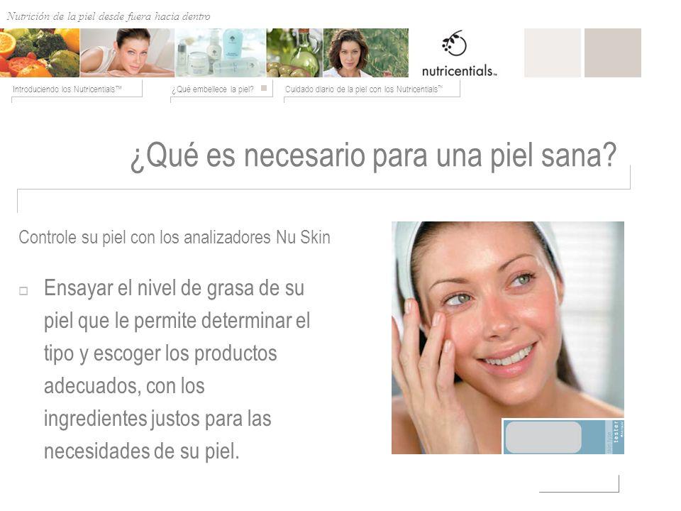 Nutrición de afuera hacia adentro ¿Qué embellece la piel?Cuidado diario de la piel con los Nutricentials Introduciendo los Nutricentials ¿Qué es neces