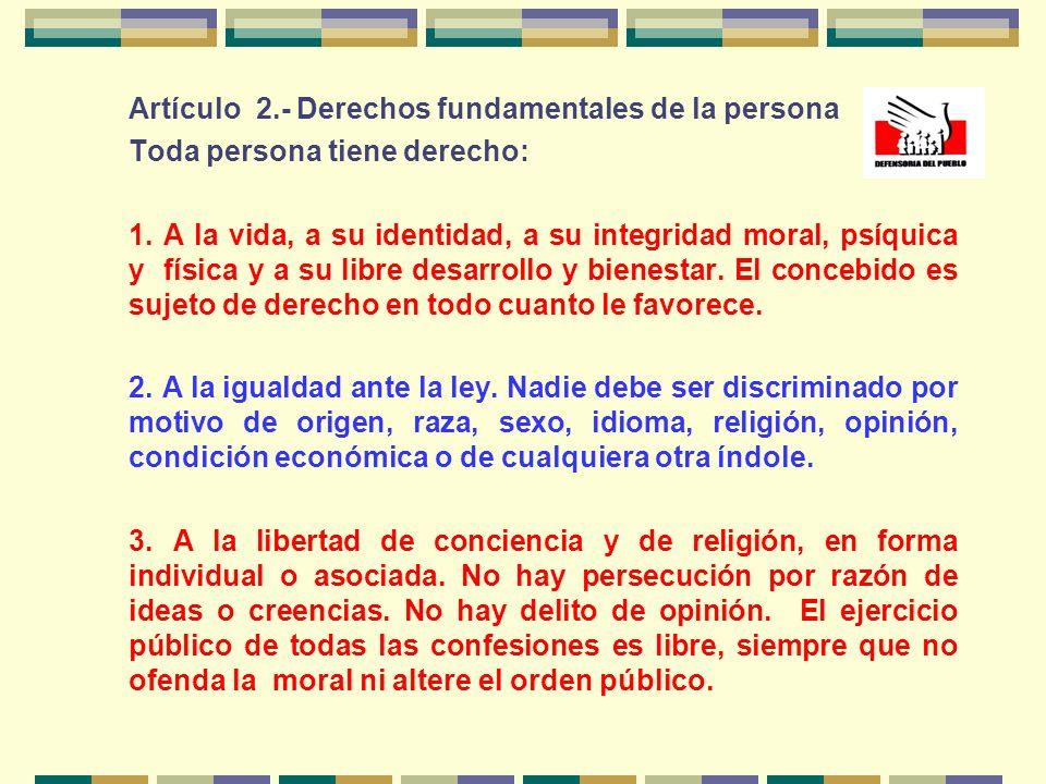 PREAMBULO TITULO IDE LA PERSONA Y DE LA SOCIEDAD Capítulo I Derechos Fundamentales de la Persona Capítulo II De los Derechos Sociales y Económicos Cap