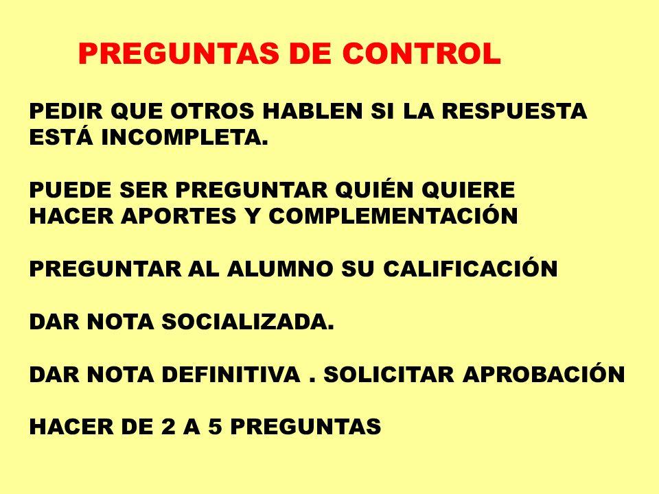 SIRVEN DE NEXO CON LA NUEVA ACTIVIDAD APOYADO EN PREGUNTAS DE CONTROL,HABLAR DE LA CLASE ANTERIOR.