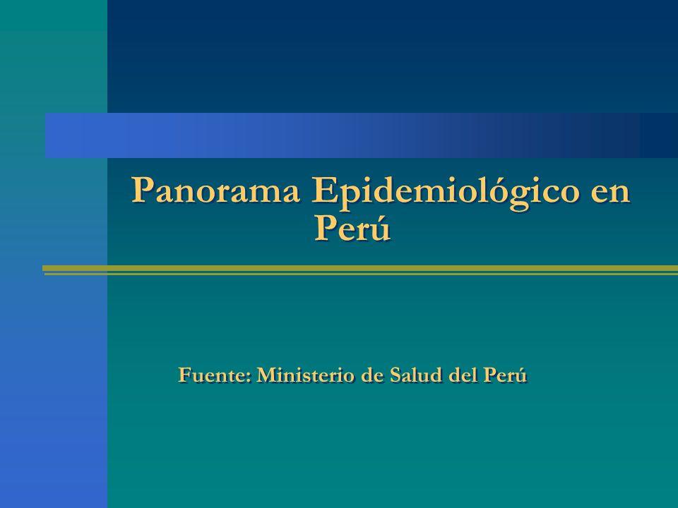 Panorama Epidemiológico en Perú Fuente: Ministerio de Salud del Perú