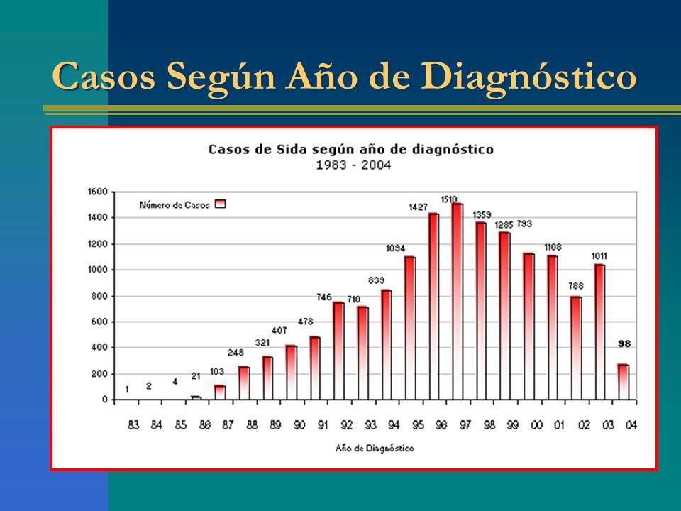 Casos Según Año de Diagnóstico