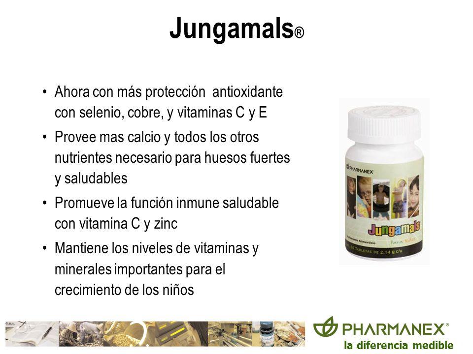 la diferencia medible Jungamals ® Ahora con más protección antioxidante con selenio, cobre, y vitaminas C y E Provee mas calcio y todos los otros nutr