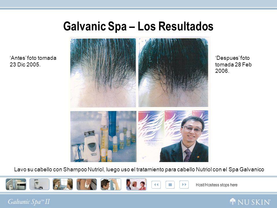 Antes foto tomada 23 Dic 2005. Despues foto tomada 28 Feb 2006. Host/Hostess stops here Lavo su cabello con Shampoo Nutriol, luego uso el tratamiento