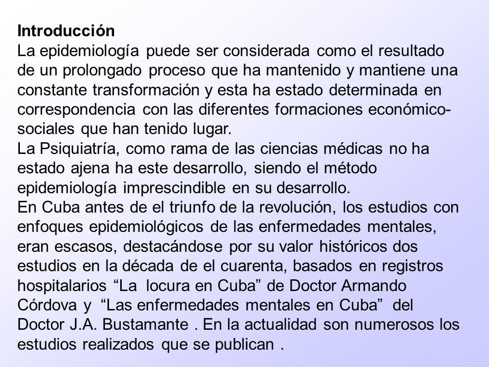 Resumen Se realizó un estudio descriptivo de los pacientes egresados del Hospital Psiquiátrico Docente Comandante Manuel Fajardo Rivero en el primer semestre del 2004, constituyendo el universo 317 pacientes de los municipios de acción de dicho centro.