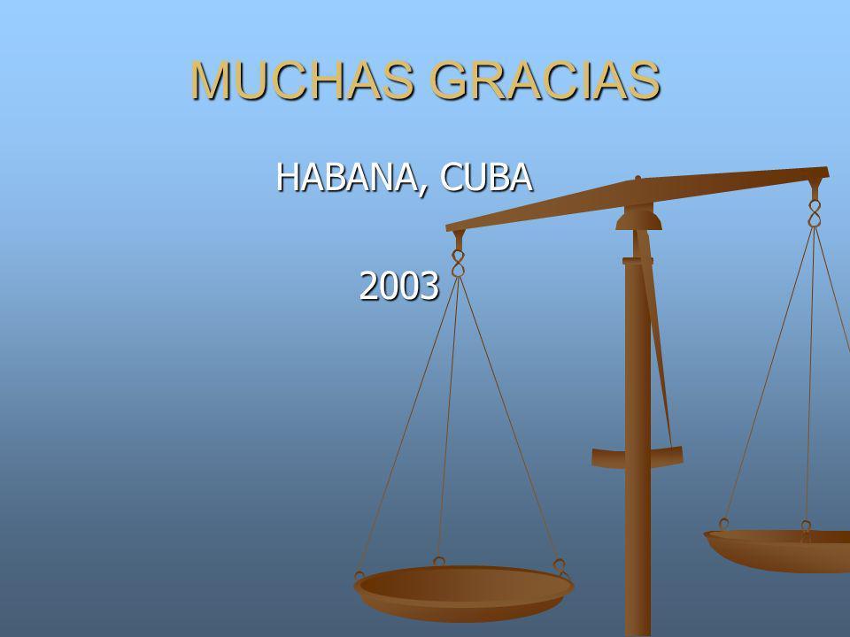 MUCHAS GRACIAS HABANA, CUBA HABANA, CUBA 2003 2003
