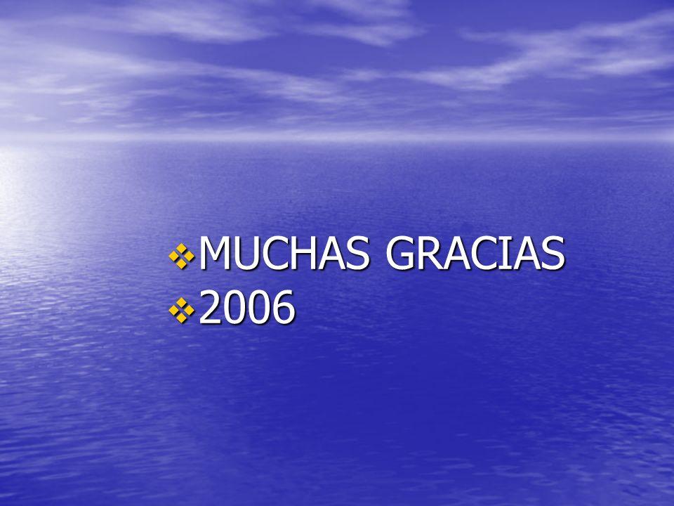 MUCHAS GRACIAS MUCHAS GRACIAS 2006 2006