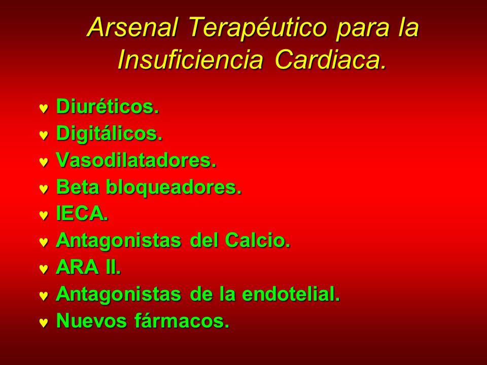 Arsenal Terapéutico para la Insuficiencia Cardiaca. Arsenal Terapéutico para la Insuficiencia Cardiaca. Diuréticos. Diuréticos. Digitálicos. Digitálic
