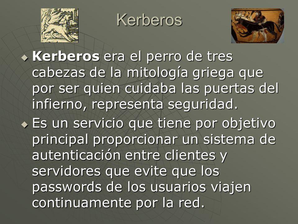 Kerberos era el perro de tres cabezas de la mitología griega que por ser quien cuidaba las puertas del infierno, representa seguridad.