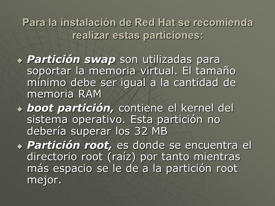 Partición swap son utilizadas para soportar la memoria virtual.