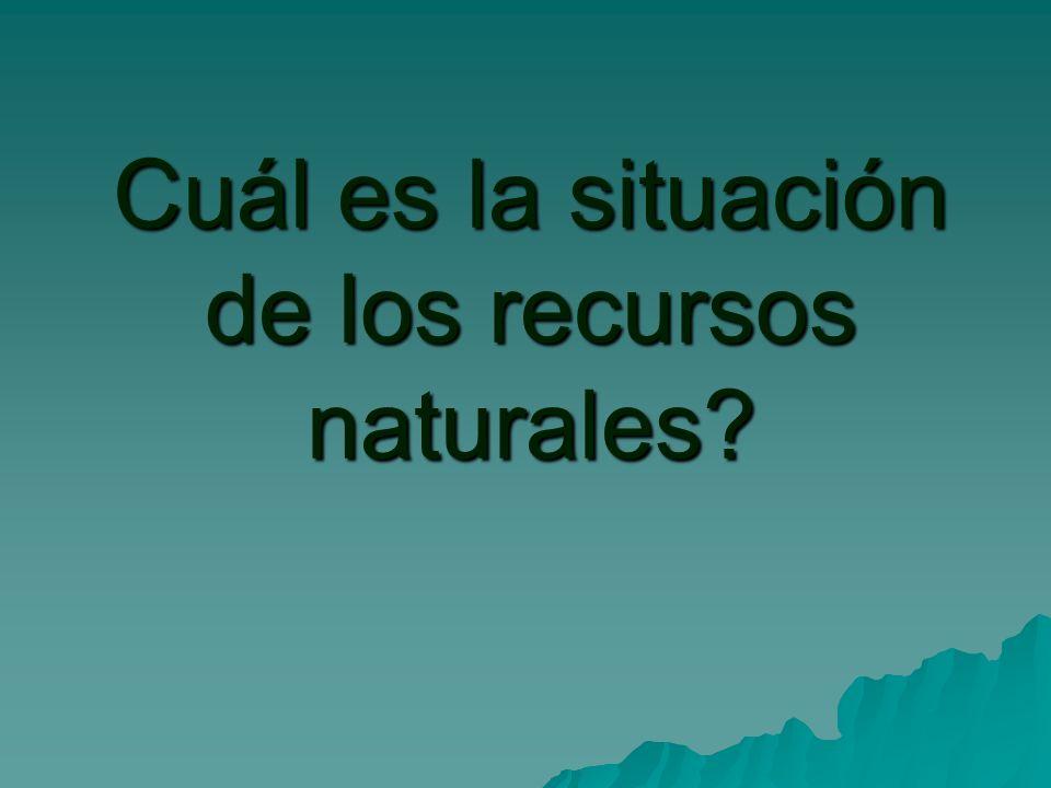 Cuál es la situación de los recursos naturales?